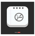 no smoking area gray icon on notepad style vector image