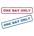 One Day Only Rubber Stamps vector image vector image