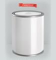 packaging building and sanitary white tin of vector image vector image