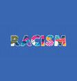 racism concept word art vector image