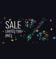 realistic colorful reflections and lighting vector image vector image