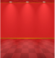 Red lightened room vector image