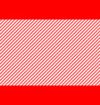 red white striped fabric texture seamless pattern vector image vector image