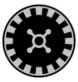 roulette black casino chip vector image