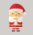 santa claus in black glasses on grey background vector image vector image