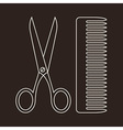 Scissors and Comb Symbols vector image vector image