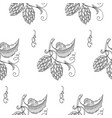 seamless pattern with sprig of hops vector image