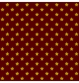 Seamless Stars Pattern in Retro Red vector image