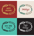 Set Christmas wreath hand drawn fir tree branches vector image vector image
