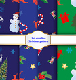Set of 8 Christmas seamless patterns vector image