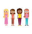 set of cartoon woman mothers character vector image