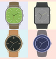 set of four watches vector image vector image
