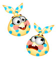 set of funny laughing bag made of cloth isolated vector image vector image