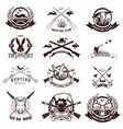 Set of hunting labels emblems and design elements vector image vector image