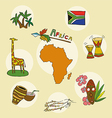 set of national profile of the africa contine vector image