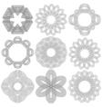 Set of nine black circular stencils vector image vector image