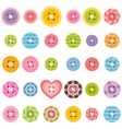 set of textured sewing buttons vector image vector image
