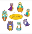 Set with owls vector image vector image