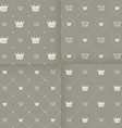 Simple seamless pattern with crown vector image