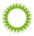 spring freshness card with grass vector image
