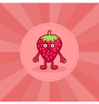 Surprised Strawberry Mascot vector image vector image