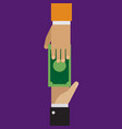 trading loaning money corruption in flat style vector image vector image