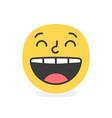 trendy laugh emoji smile eps10 vector image vector image