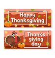 turkey flaps its wing place for text vector image vector image