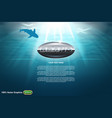 undersea world template vector image
