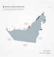 united arab emirates infographic map vector image