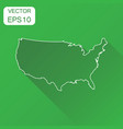 usa map icon business cartography concept outline vector image