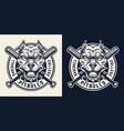 vintage sport team monochrome logo vector image