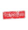 warning red grunge rubber stamp vector image vector image