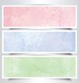 Watercolor headers vector image vector image