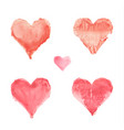 watercolor painted heart vector image vector image