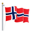 waving norway flag isolated on a white background vector image vector image