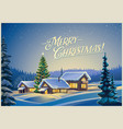winter festive landscape vector image