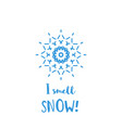 winter greeting card with blue geometric ornament vector image vector image