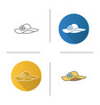 womens beach hat icon vector image vector image