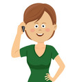 young woman talking on the phone vector image vector image