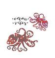 zen art style octopus with handwritten lettering vector image vector image