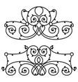 decorative iron metal fence elegance retro vector image