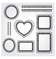Ornament Frame Set vector image