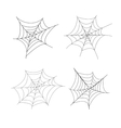 Set of 4 spider web isolated vector image