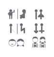 set of wc toilet bathroom icon symbol vector image