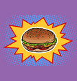 fast food burger vector image
