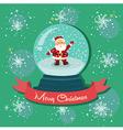 Santa Snowball Snowflakes vector image