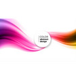 abstract background color wavy vector image