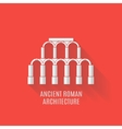 Ancient Roman architecture Long shadows vector image
