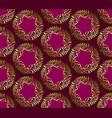 art nouveau style purple pattern vector image vector image